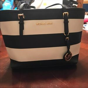 Michael Kors Black and White Bag